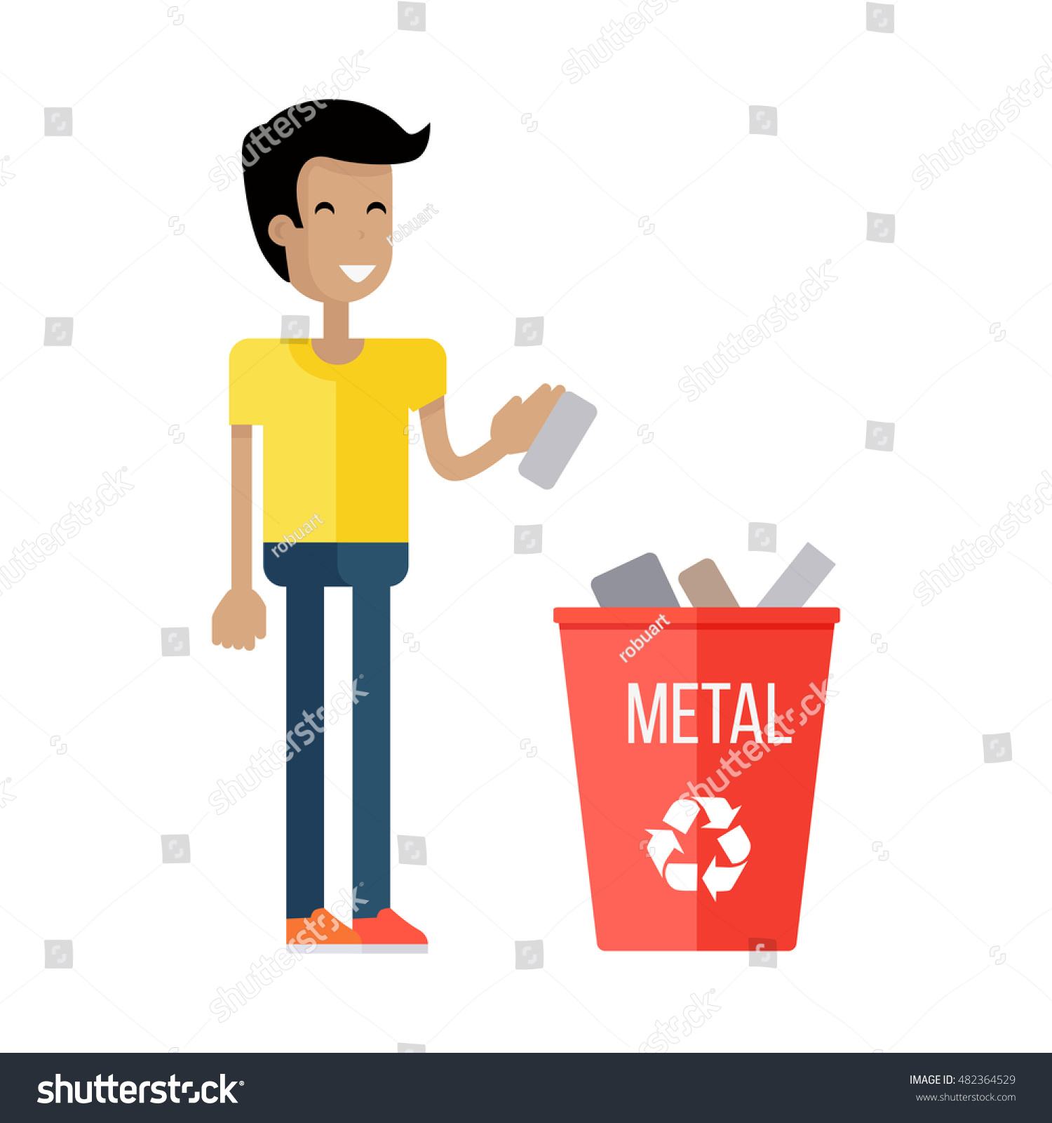 Clipart Trash Can Images, Stock Photos & Vectors   Shutterstock