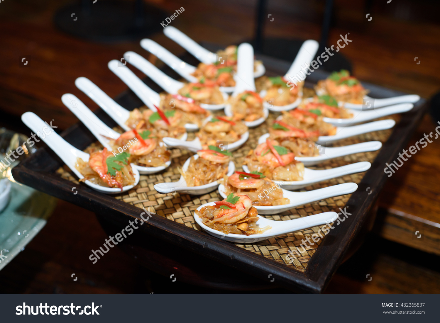 cocktail food in buffet bar stock photo 482365837 shutterstock. Black Bedroom Furniture Sets. Home Design Ideas