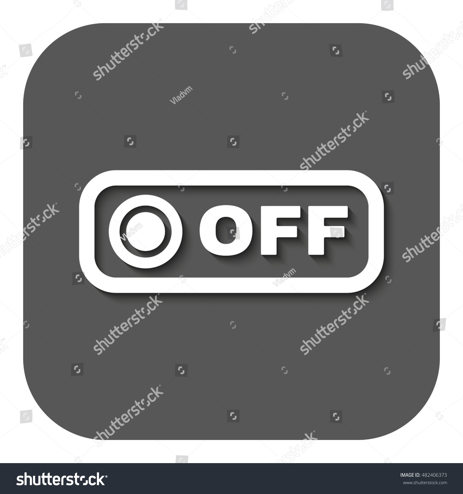Off Button Icon Off Switch Symbol Stock Illustration 482406373 ...