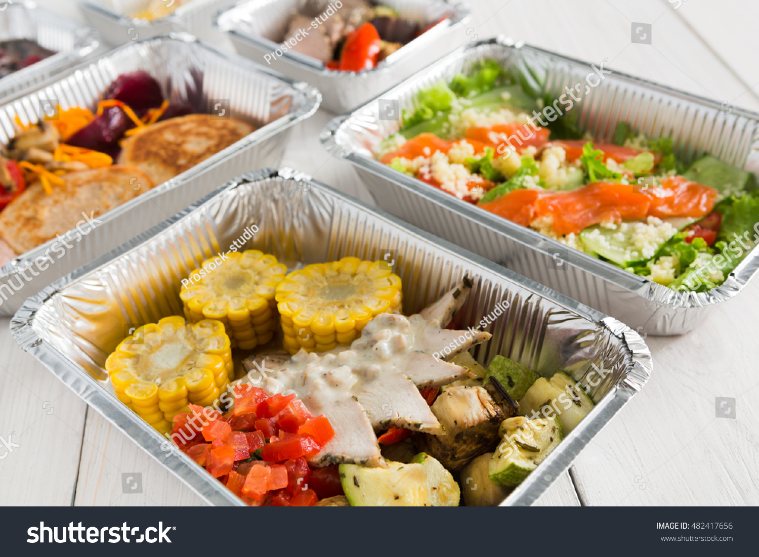 Royalty Free Healthy Food Delivery Daily Ration 482417656 Stock