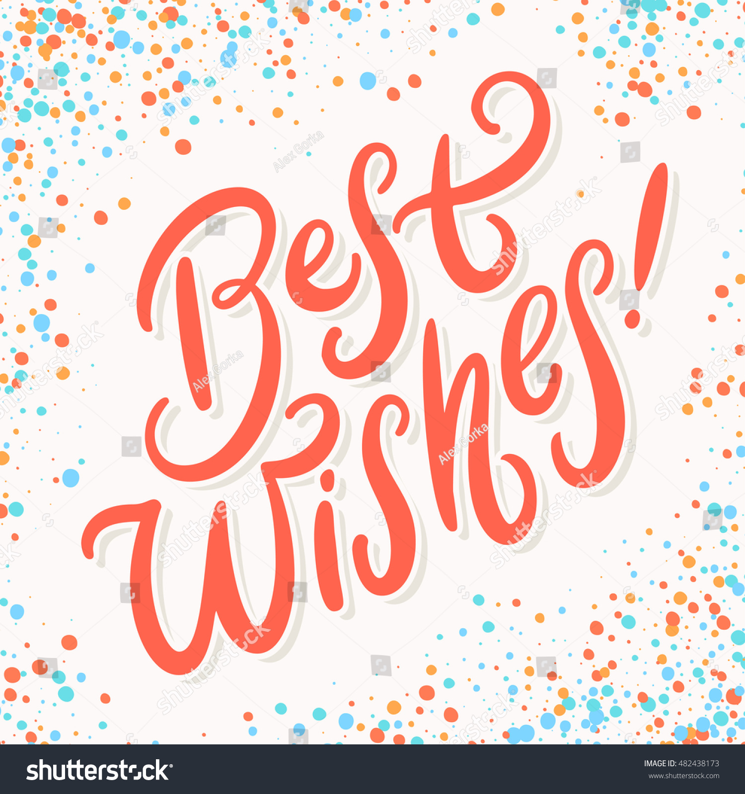 Best Wishes Greeting Card Stock Vector 482438173 Shutterstock
