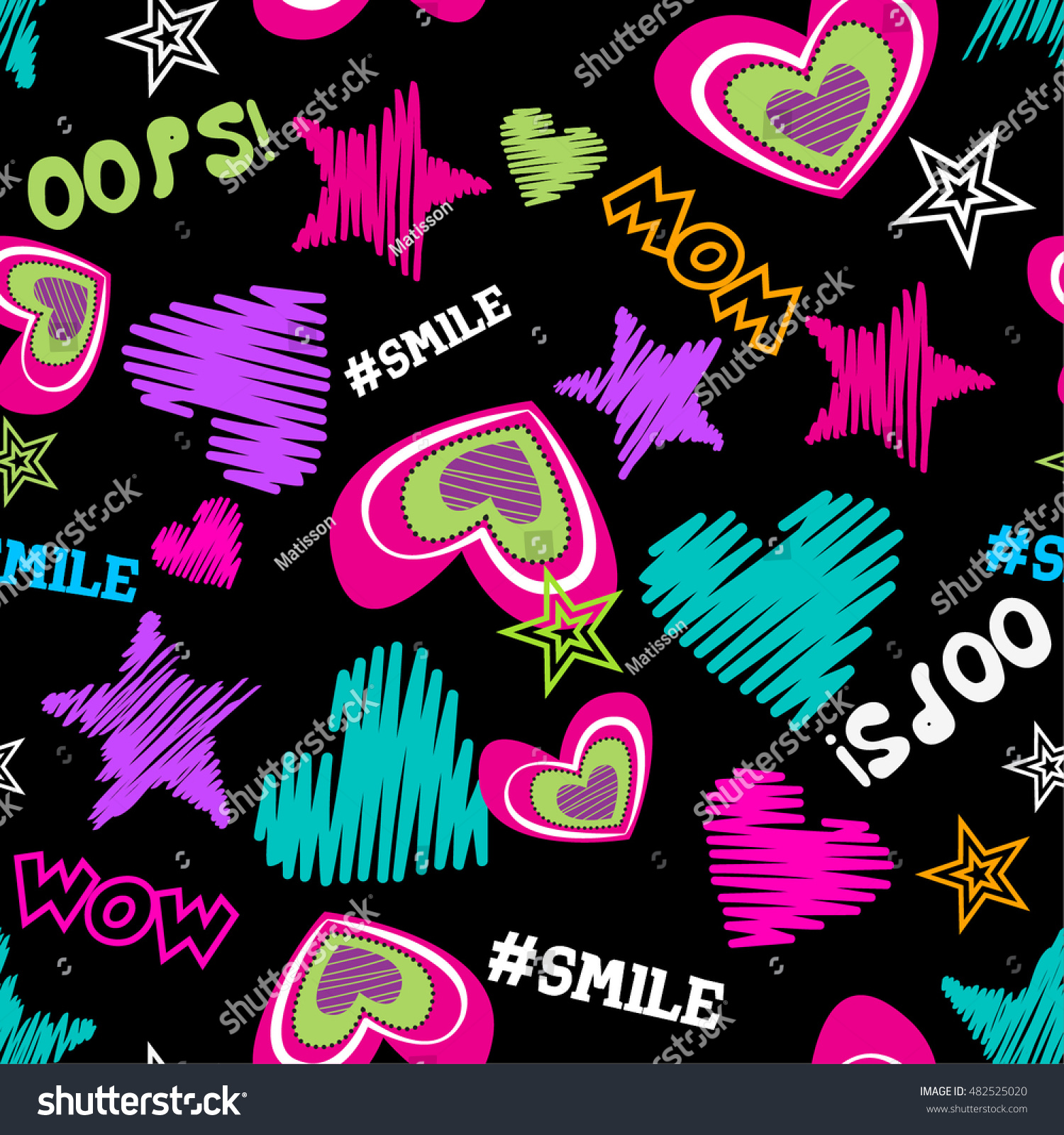 funny colorful creative vector background hearts stock vector