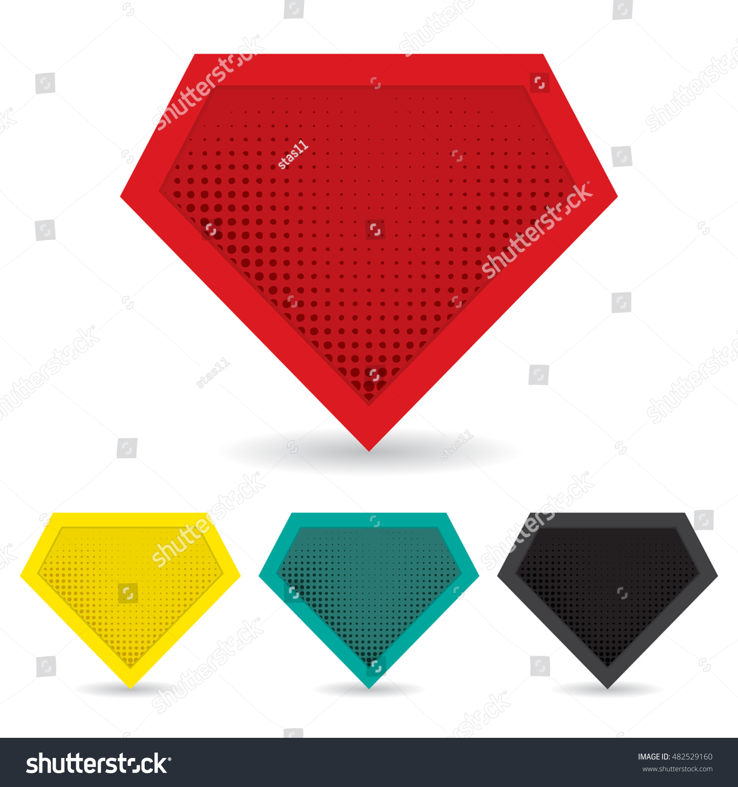 set superhero logo template vector isolated stock vector 482529160
