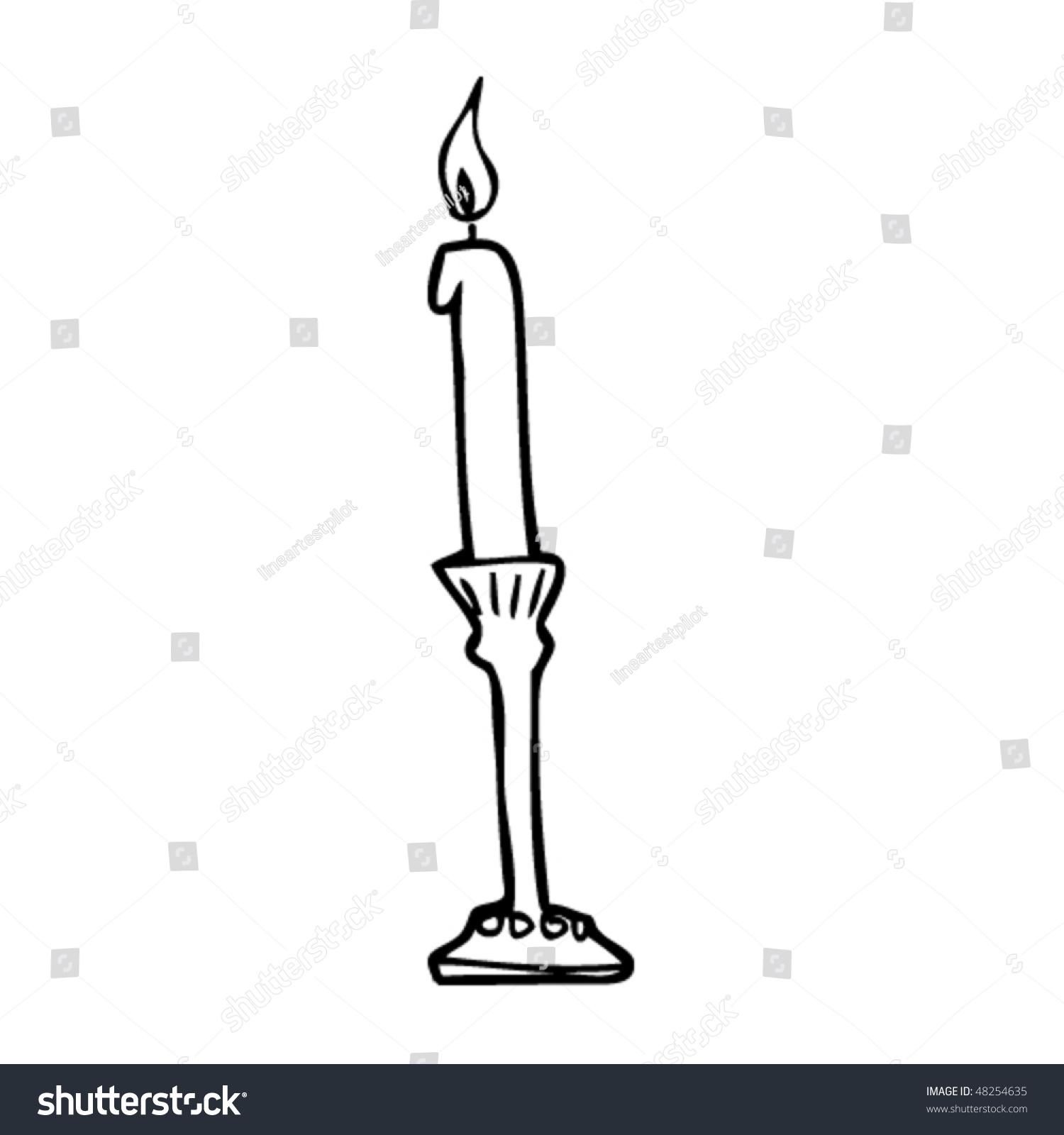 candlestick drawing stock vector 48254635 shutterstock