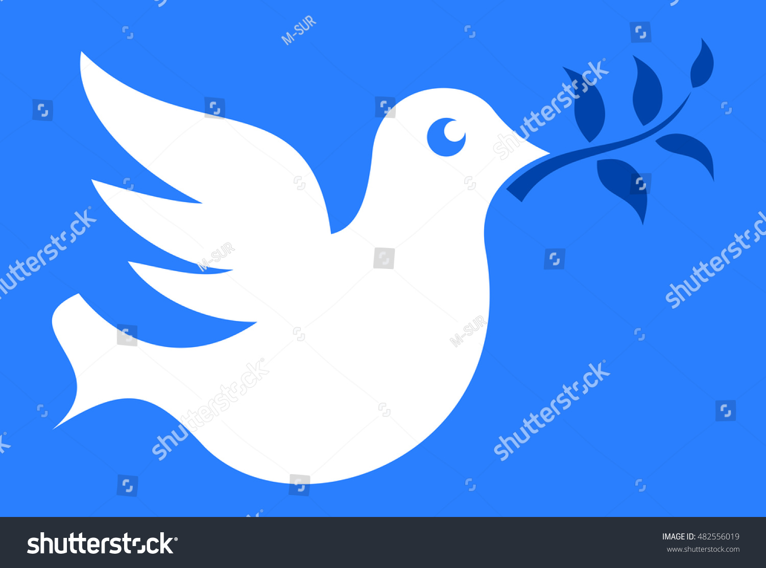 Dove Olive Branch Symbol Peace Ceasefire Stock Vector Royalty Free