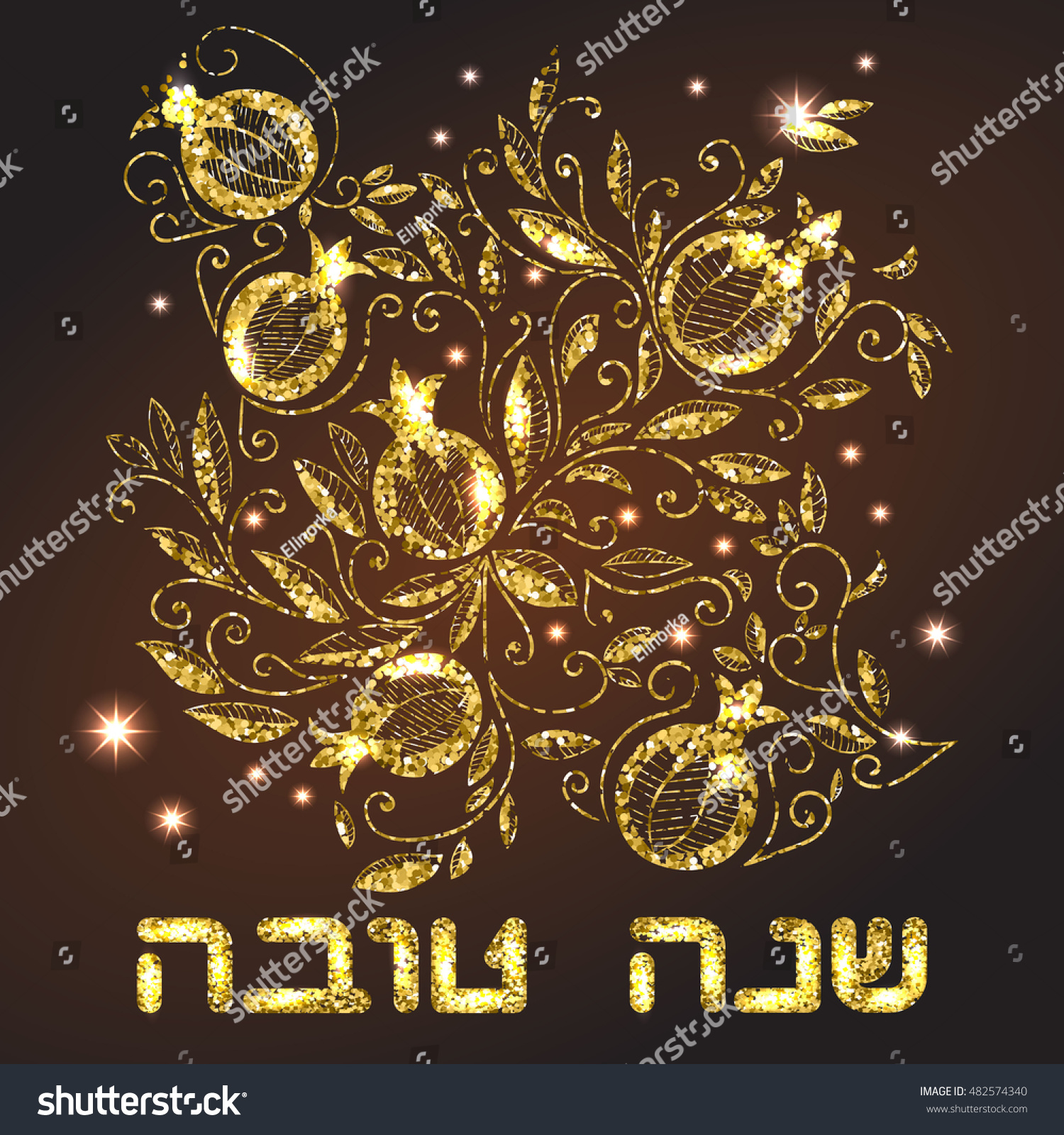 Rosh hashanah jewish new year greeting stock vector 482574340 rosh hashanah jewish new year greeting card with pomegranate rosh hashanah symbols hebrew kristyandbryce Choice Image