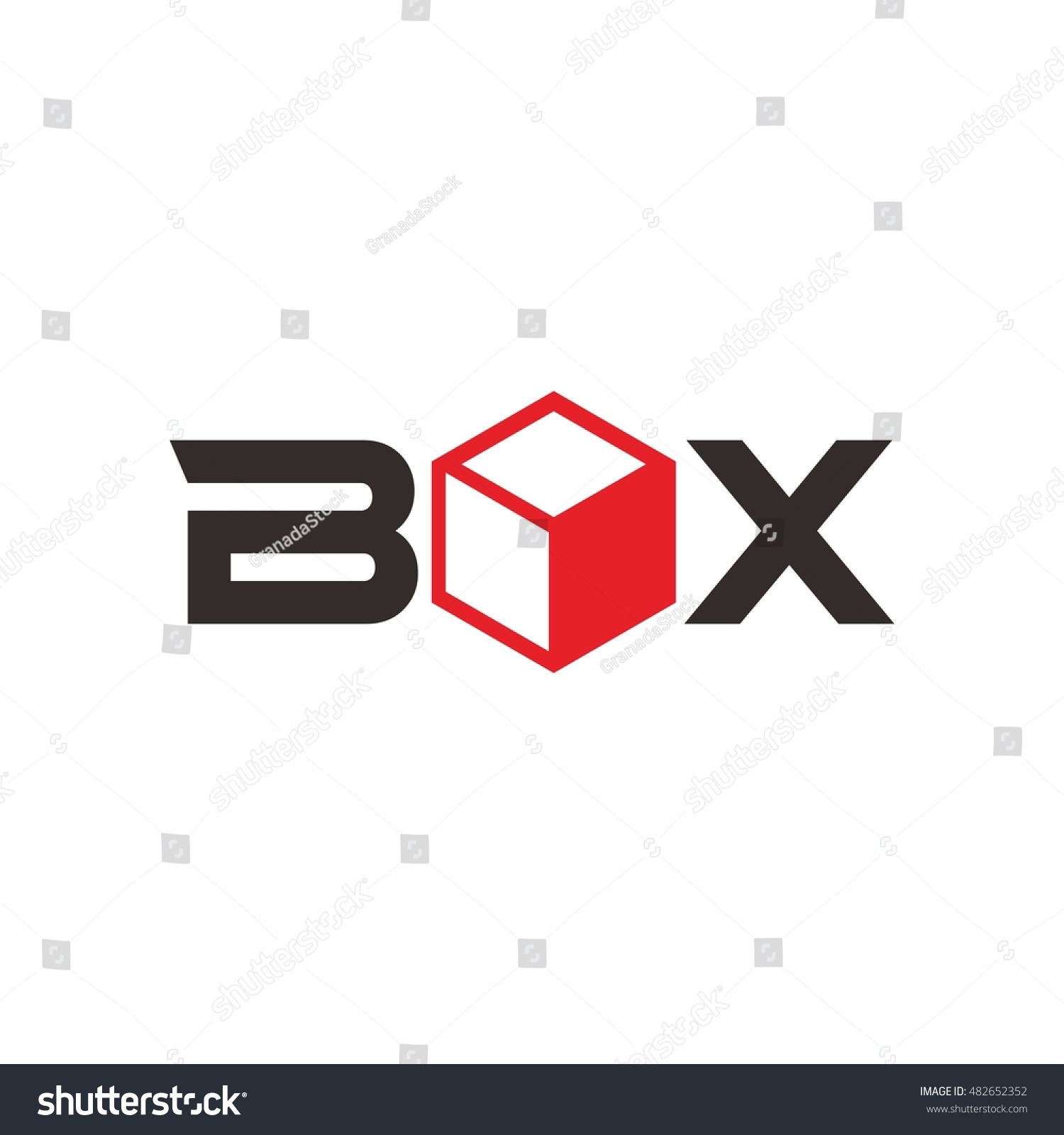 Gift Box Logo Design Template Stock Vector Royalty Free 482652352