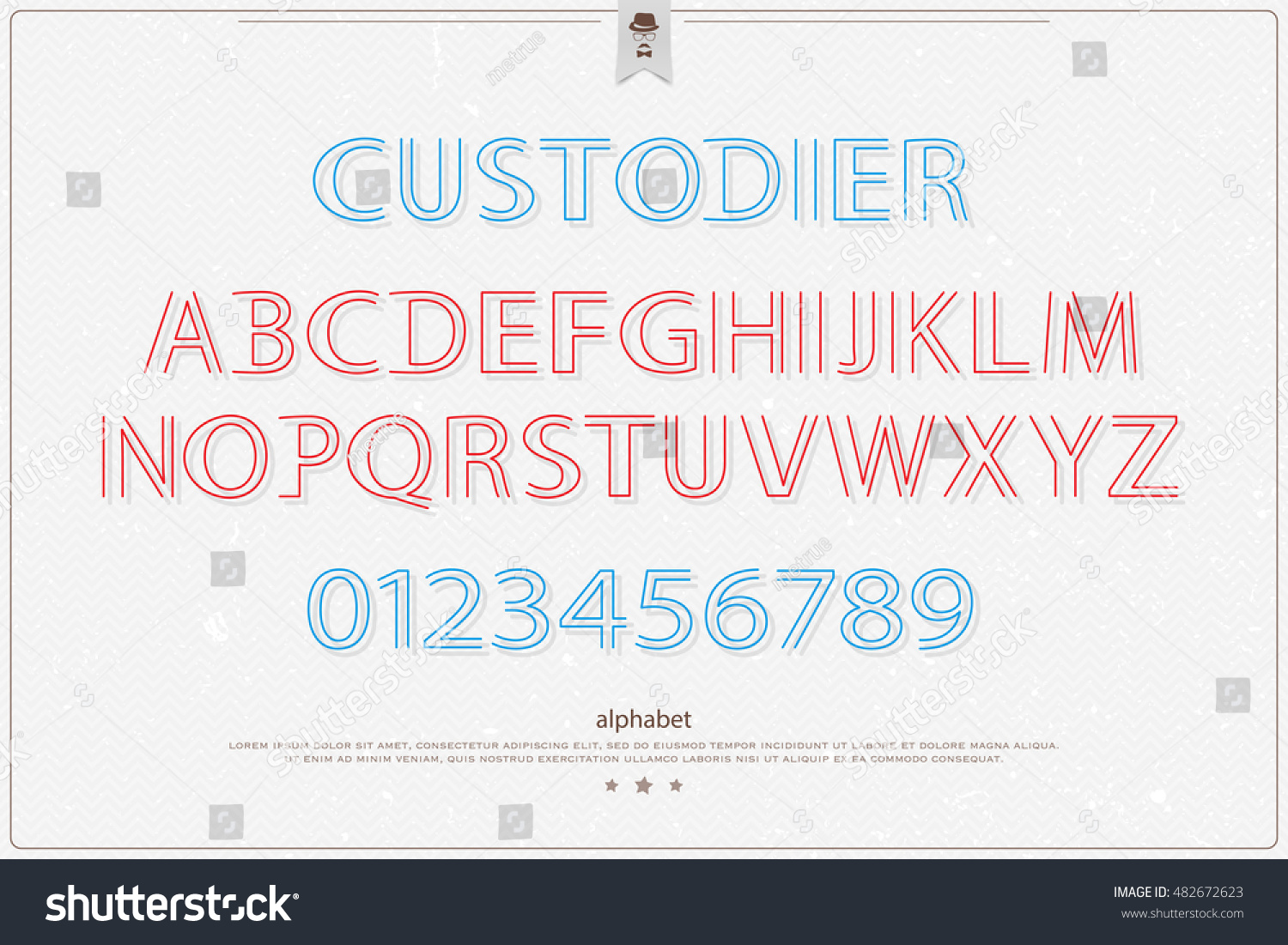 Stylish alphabet letters numbers over paper stock vector 482672623 stylish alphabet letters and numbers over paper texture vector font type design modern lettering buycottarizona Gallery