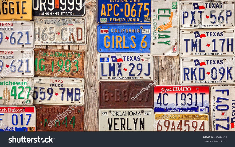 Luckenbach Texas April 7 Old License Stock Photo 482674105 ...