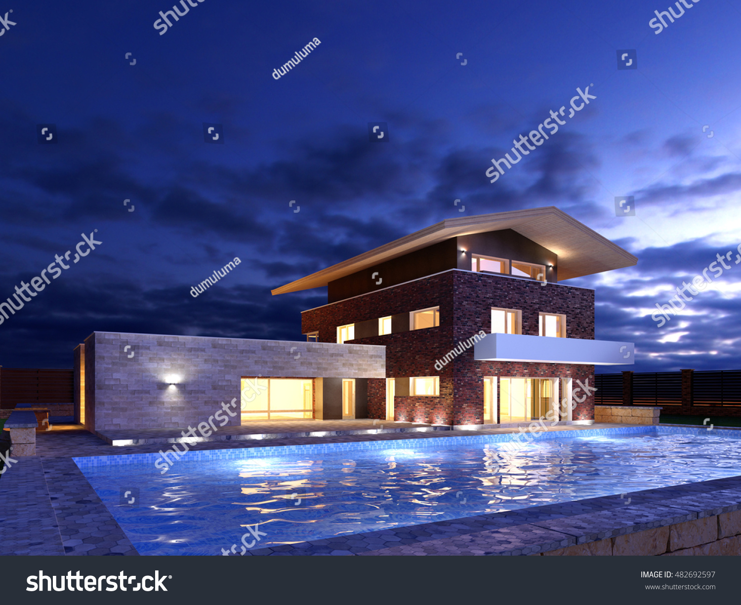 Picture Modern Architecture Modern House Design Stockillustration ...