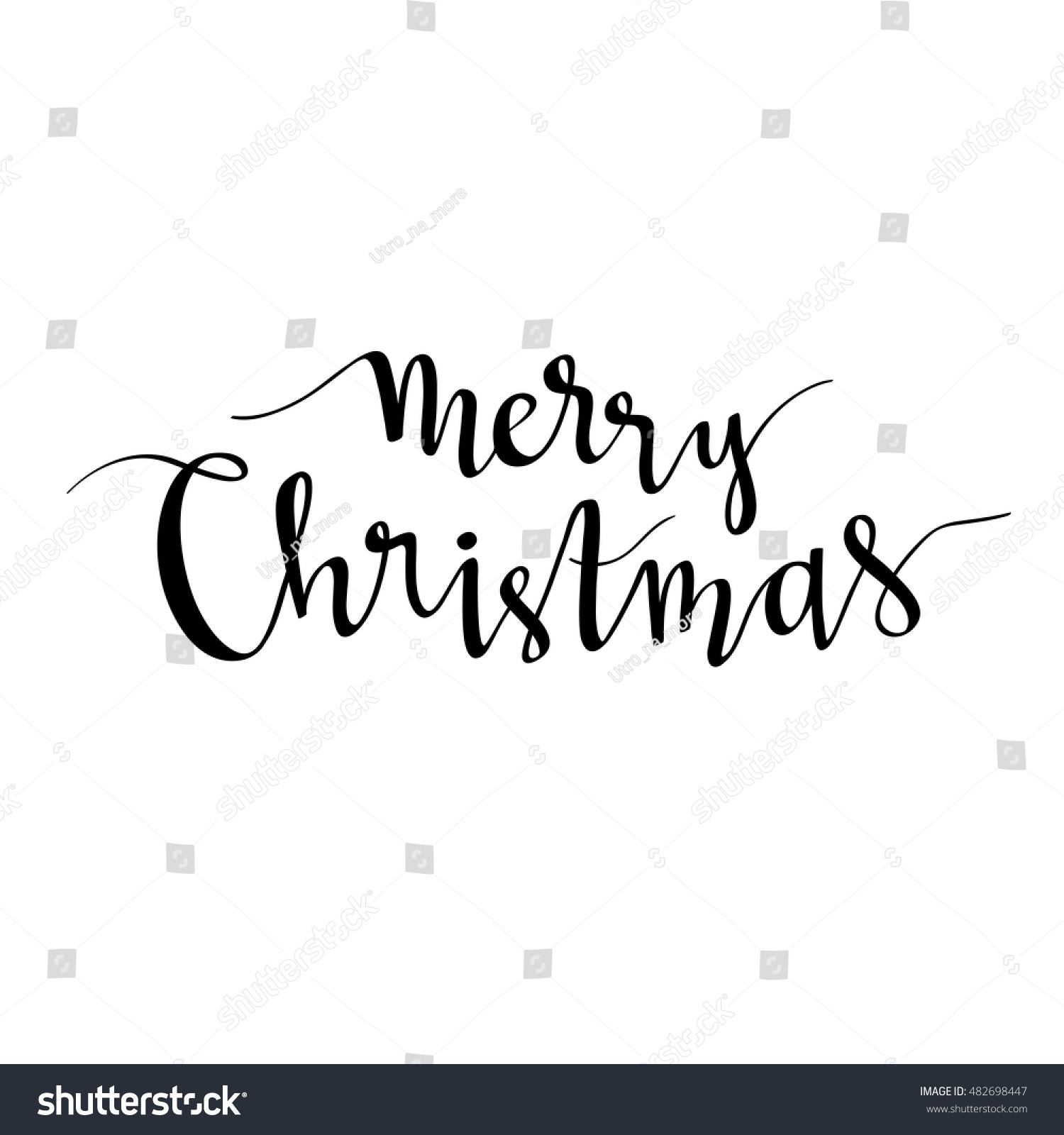 Merry Christmas Lettering Season Vector Holiday Stock