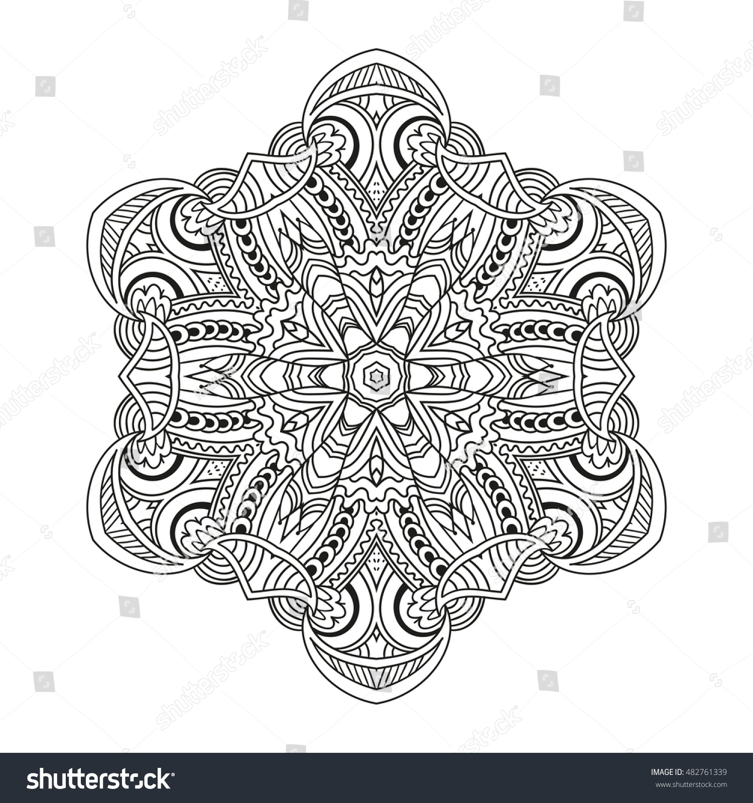 coloring page mandala vector art stock vector 482761339