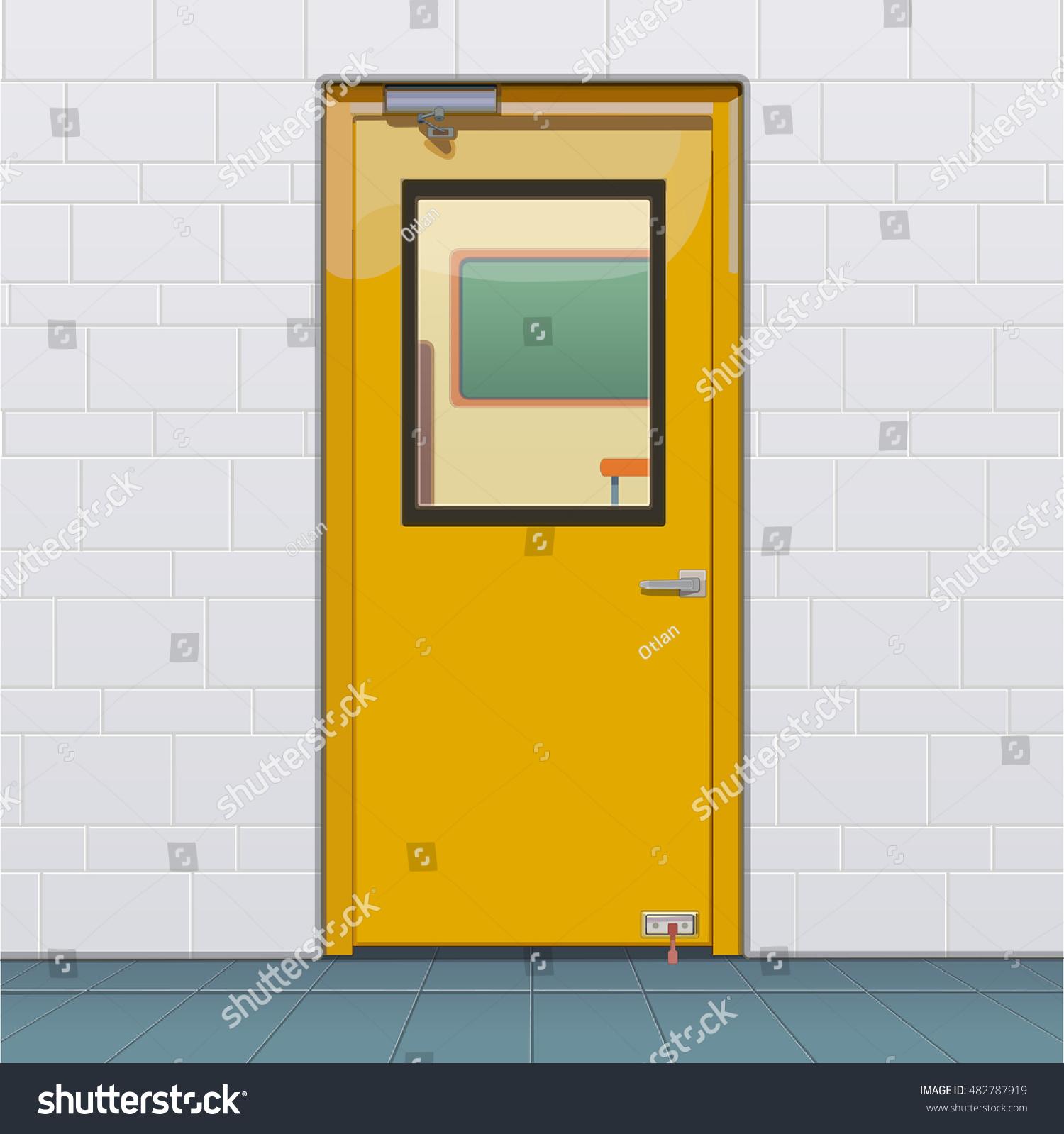 Closed Classroom Door Stock Vector (Royalty Free) 482787919