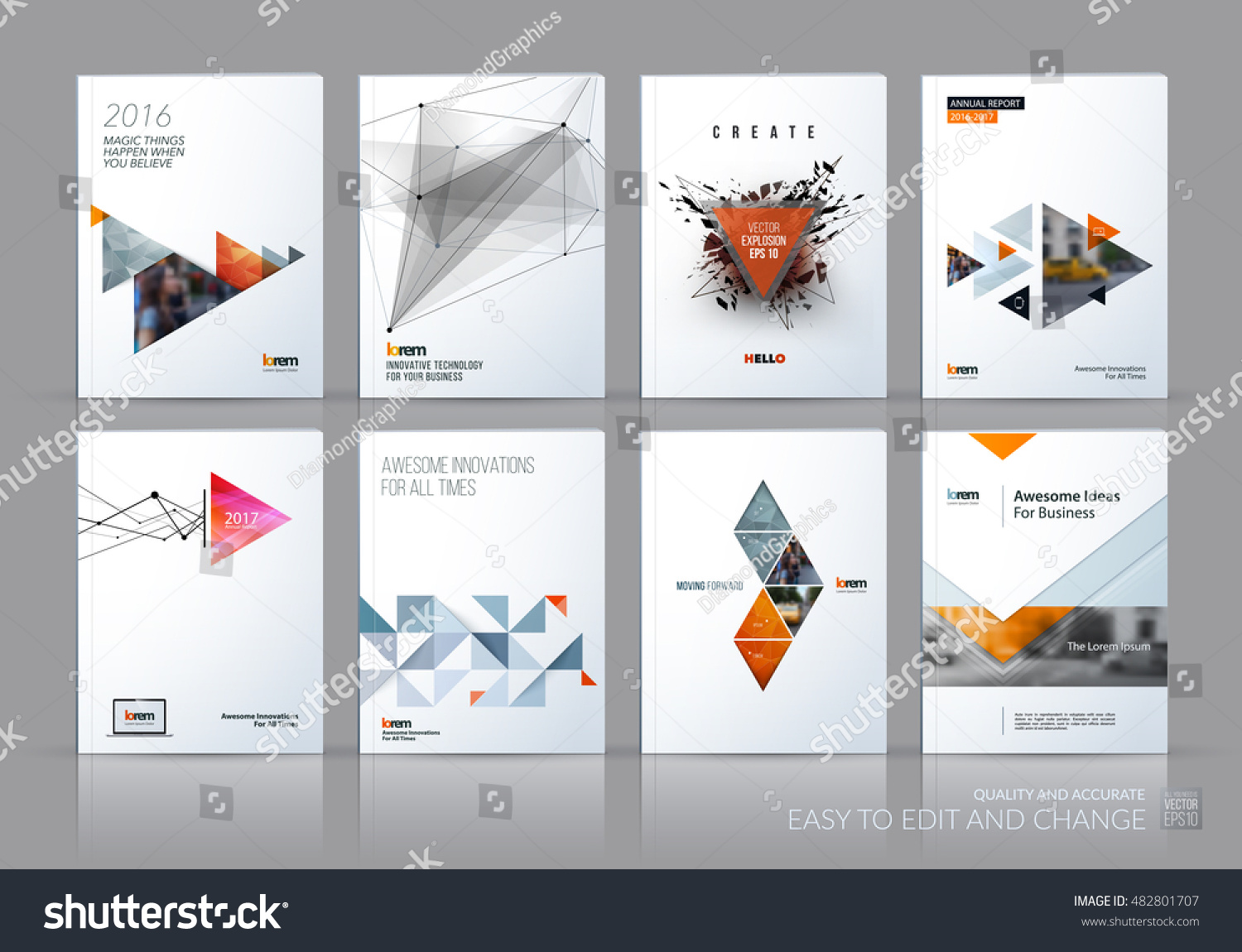 Brochure Template Layout Cover Design Annual Stock-Vektorgrafik ...