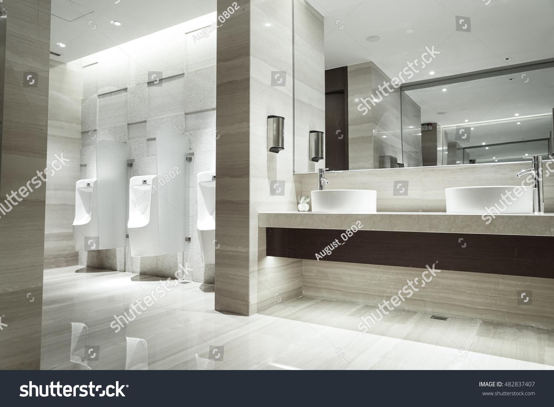 Contemporary Interior Public Toilet Part Luxury Stock Photo (Royalty ...