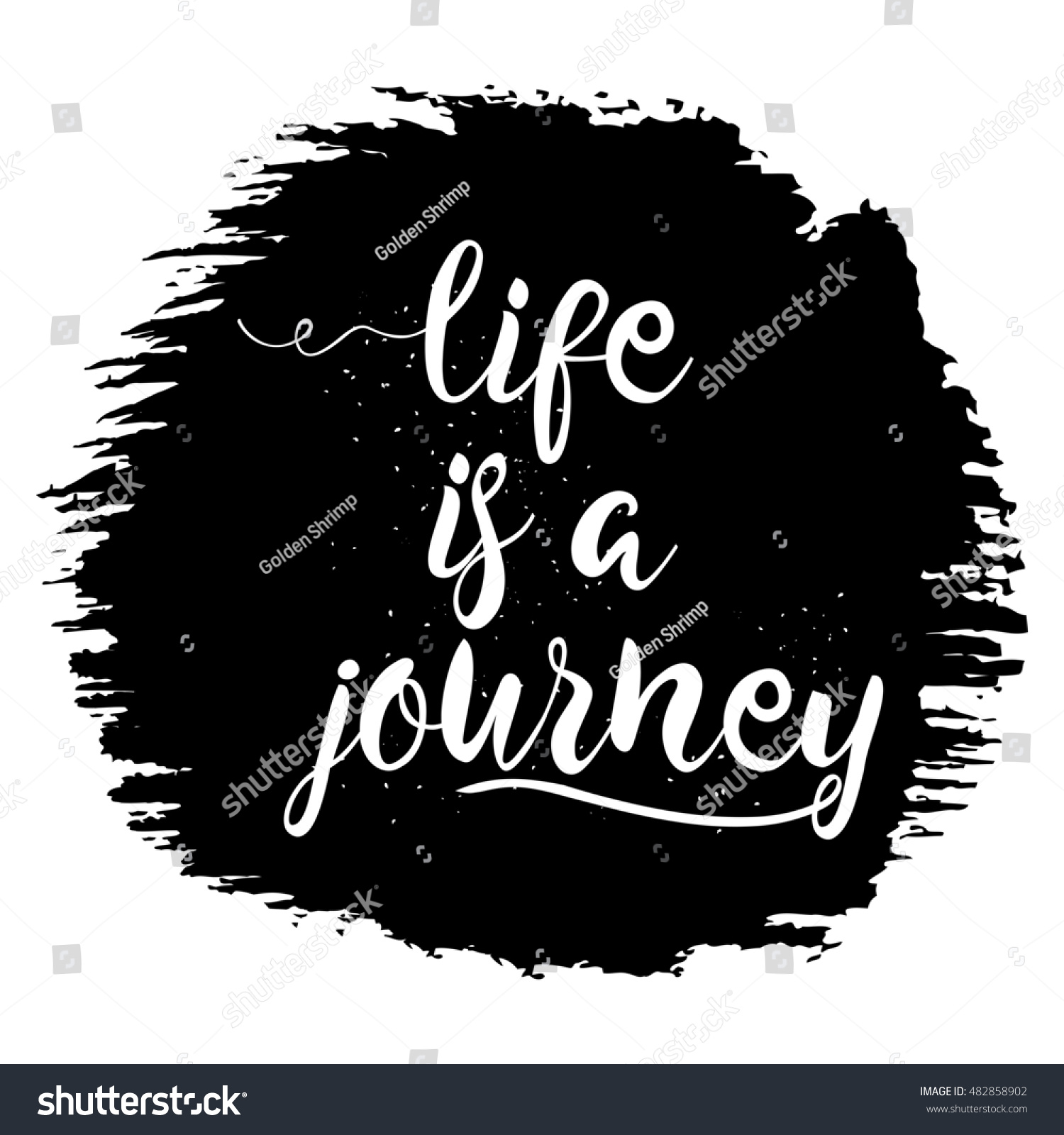 Inspirational Quotes About Lifes Journey Life Journey Hand Drawn Inspiration Quote Stock Illustration