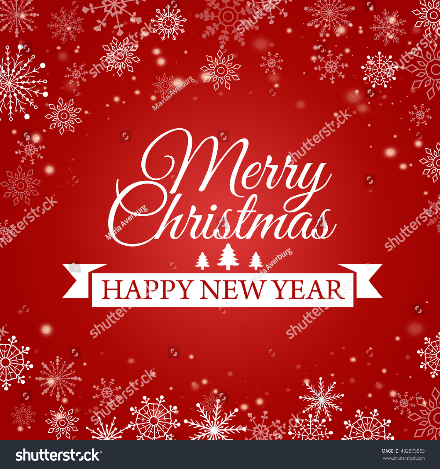 Ecard happy new year merry christmas stock vector 482873563 e card for happy new year and merry christmas vector illustration kristyandbryce Gallery