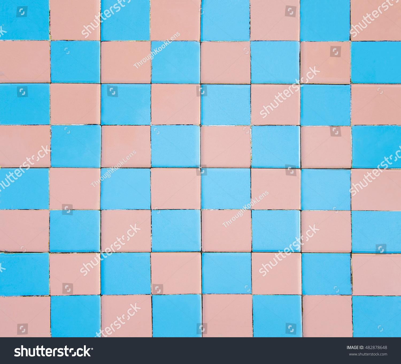 Colorful Pink Blue Ceramic Mosaic Tile Stock Photo (Royalty Free ...