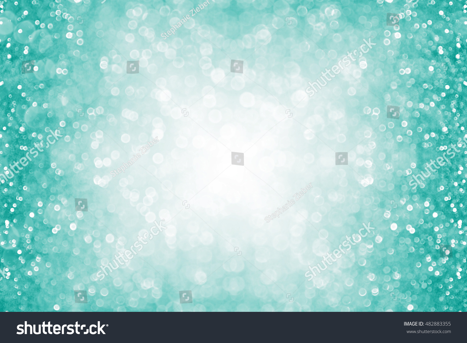 abstract teal green turquoise aqua glitter stock photo