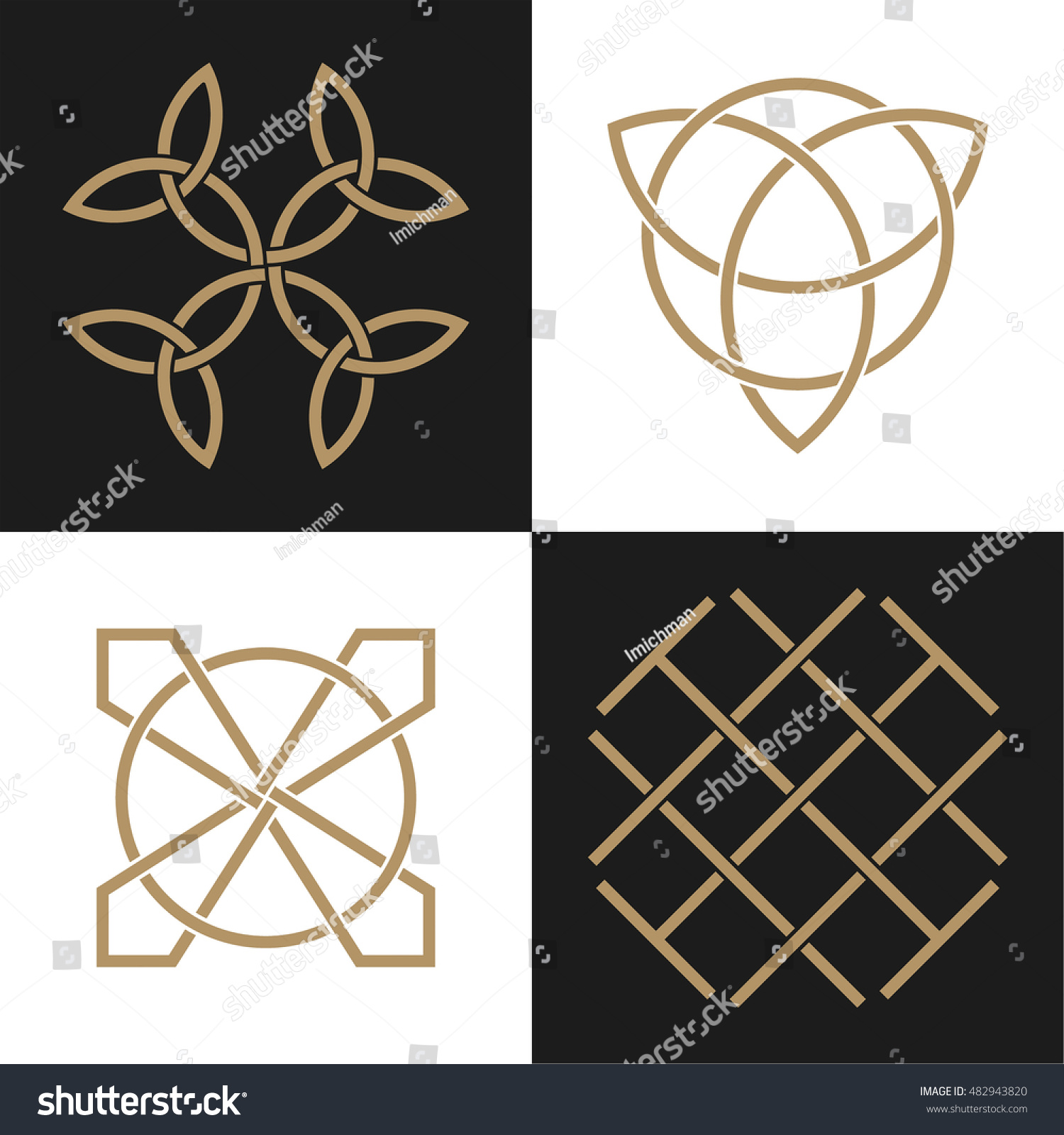 Set ancient symbols executed celtic style stock vector 482943820 set of ancient symbols executed in the celtic style secret signs knots and interlacings buycottarizona