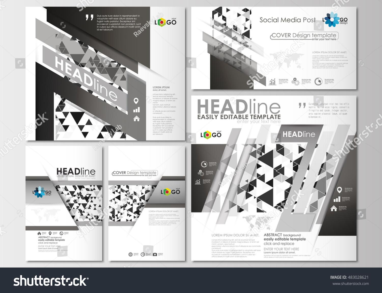 social media posts set business templates 483028621 shutterstock. Black Bedroom Furniture Sets. Home Design Ideas