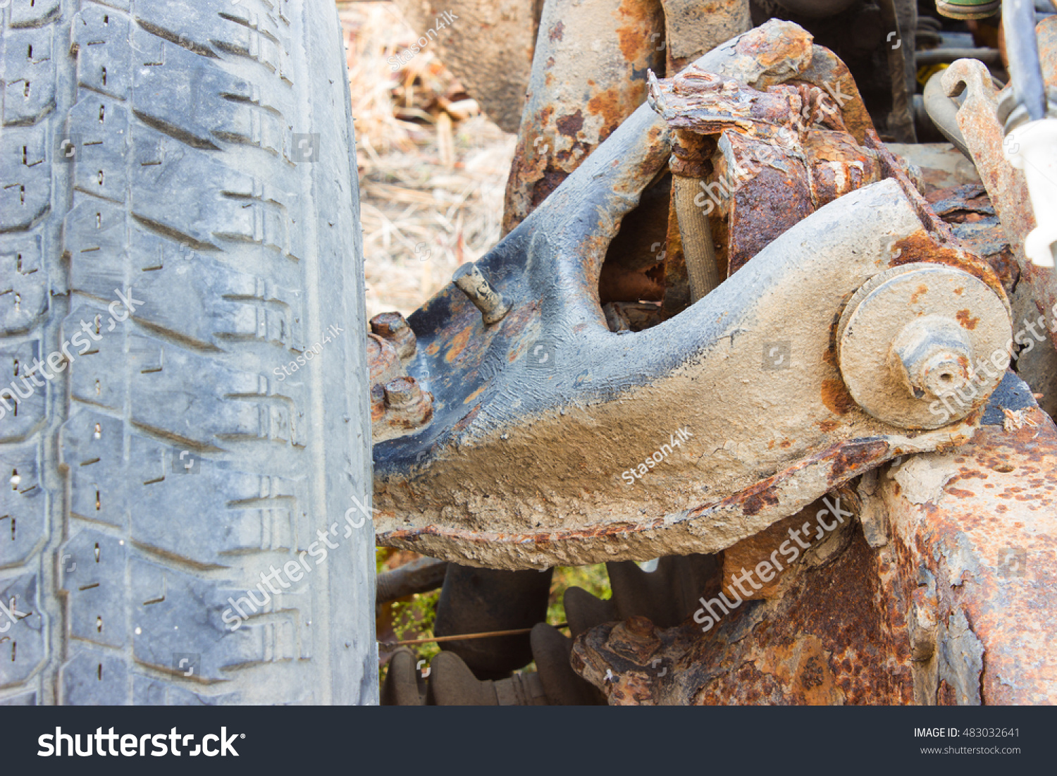 Old Rusty Chassis Frame Abandoned Car Stock Photo (Edit Now ...