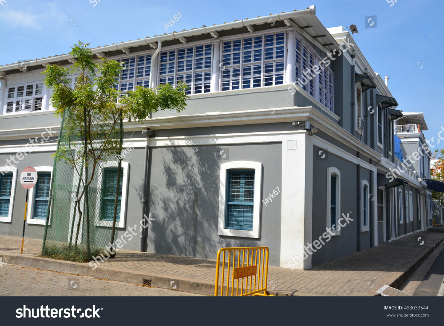 French Architecture Building French Colony Pondicherry Stock Photo