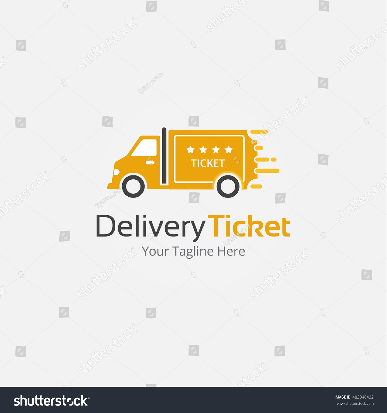 delivery ticket logo template stock vector royalty free 483046432