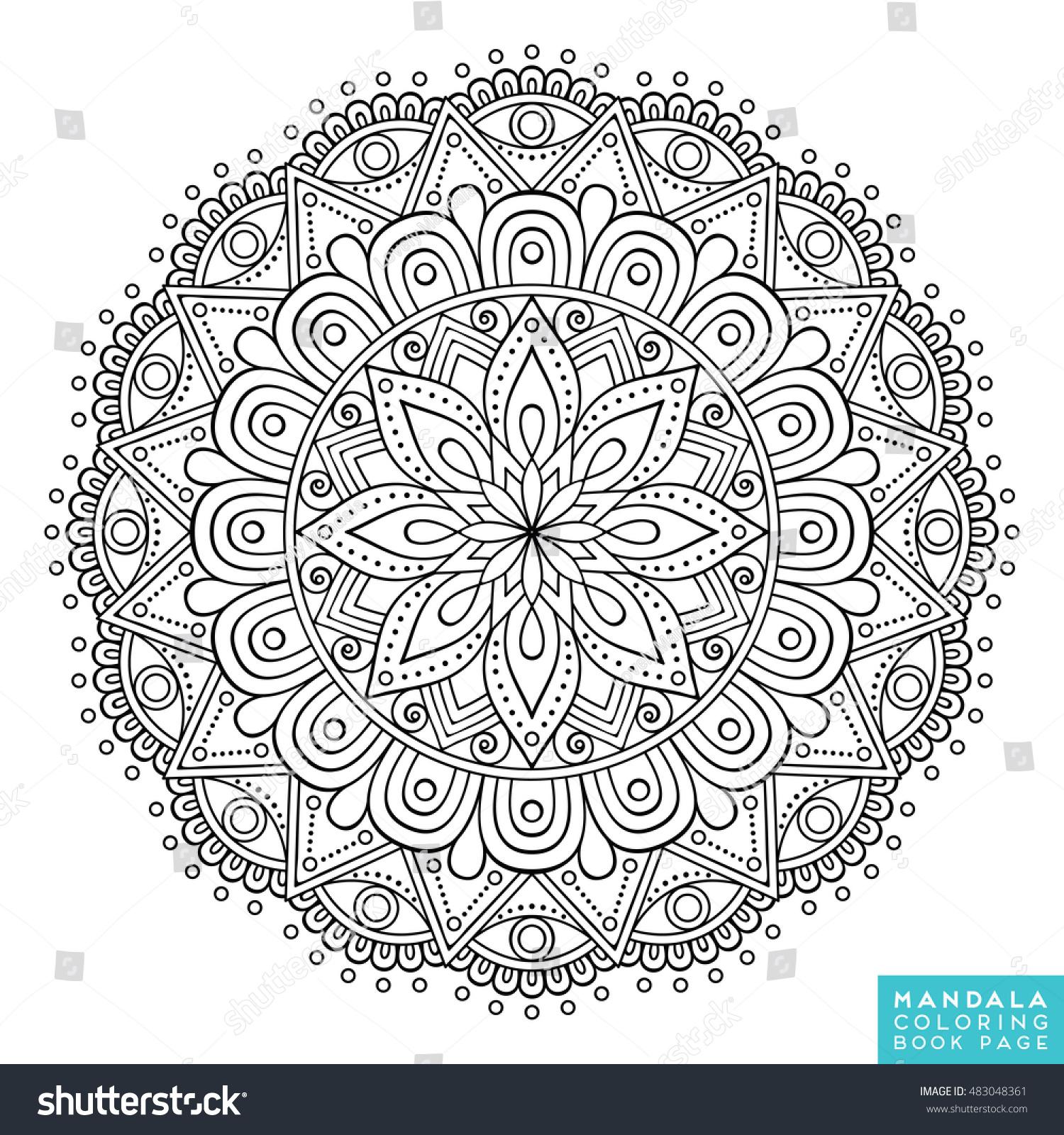 Flower Mandala Vintage Decorative Elements Oriental Stock Vector 483048361