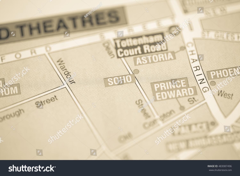 Map Soho London.Soho Cinema London Uk Map Stock Photo Edit Now 483087496