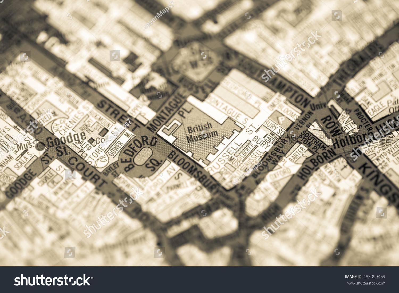 British Museum London Uk Map Stock Photo Edit Now 483099469