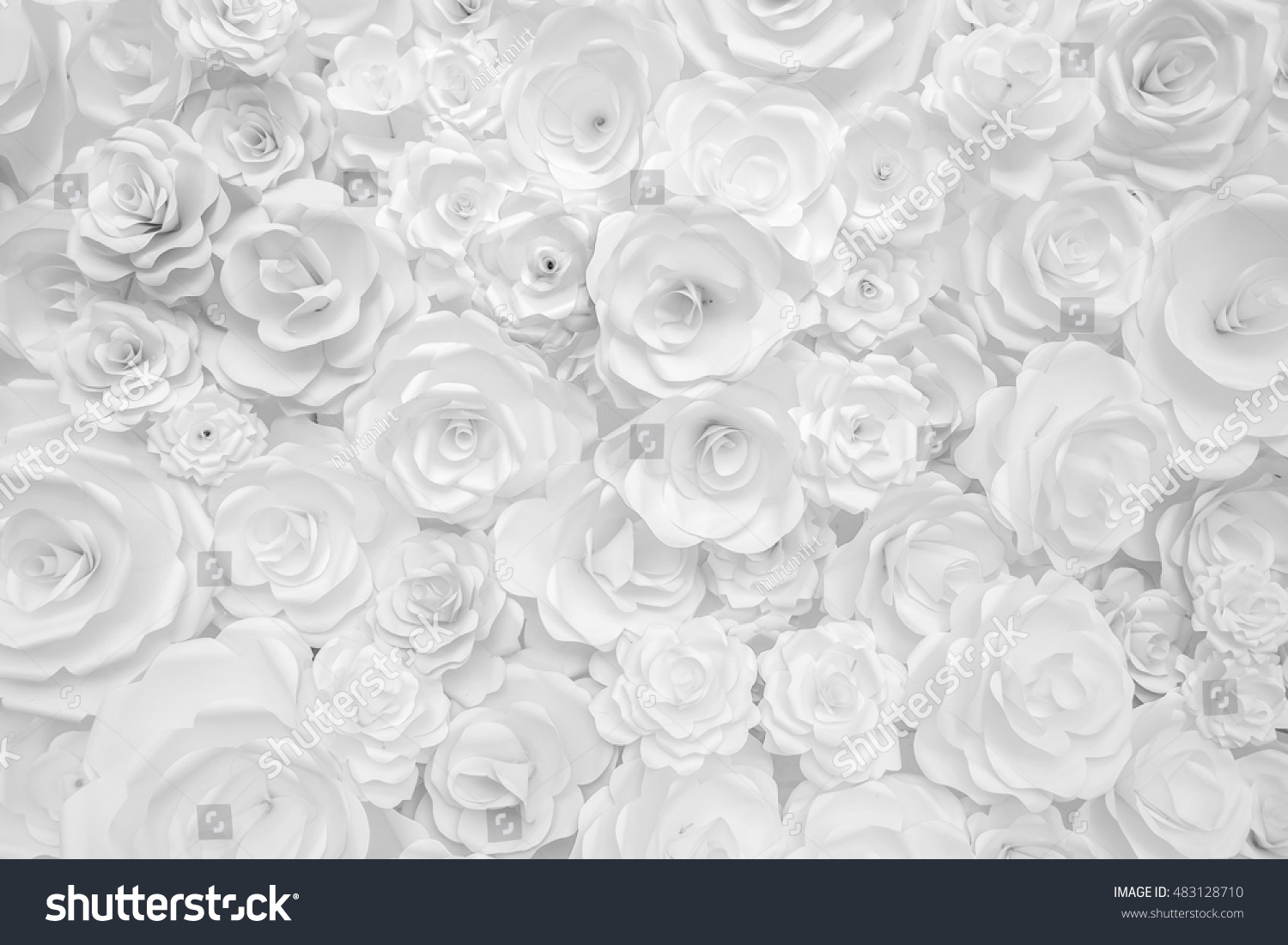 White paper flowers decorative background stock photo royalty free white paper flowers decorative background mightylinksfo