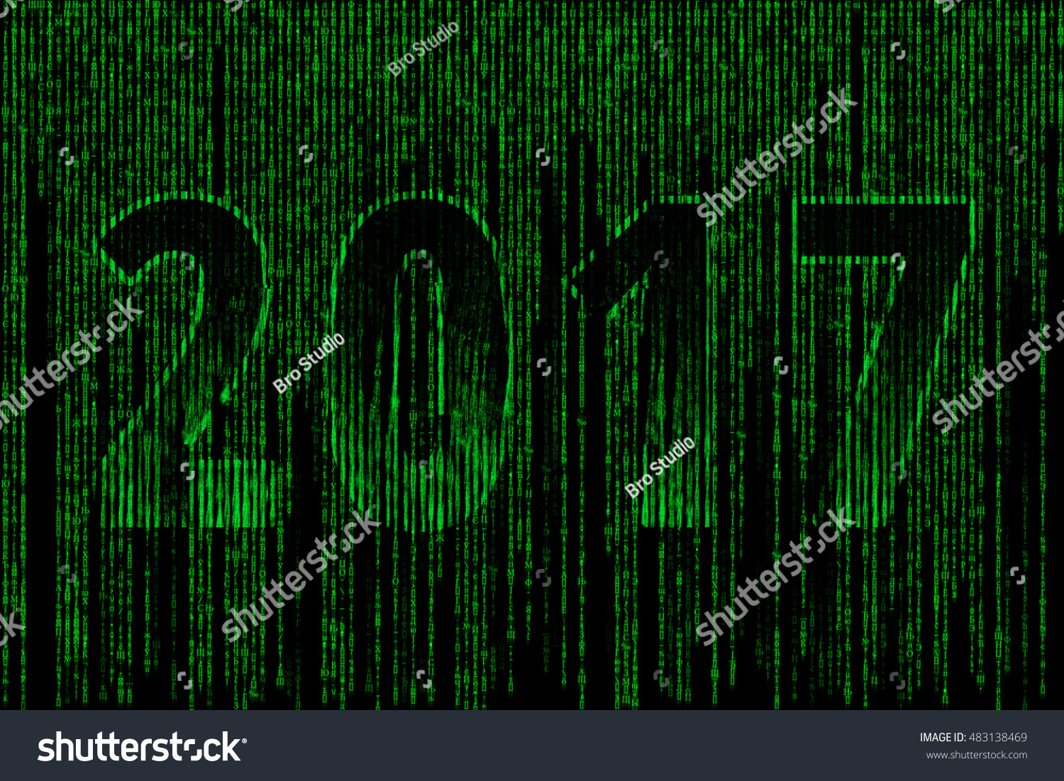 2017 style matrix figure 2017 consisting stock illustration 2017 in the style of matrix figure 2017 consisting of different symbols letters and numbers biocorpaavc