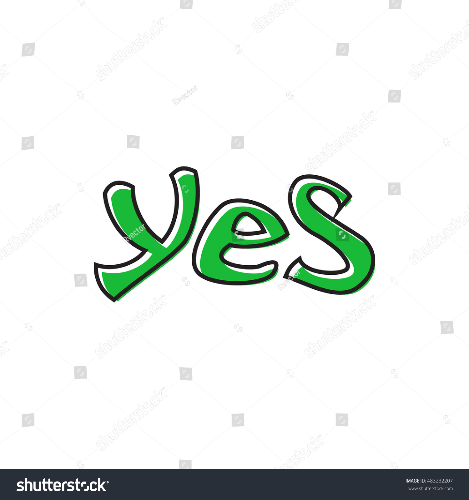 Word yes icon flat style isolated stock illustration 483232207 word yes icon in flat style isolated on white background click and choice symbol buycottarizona