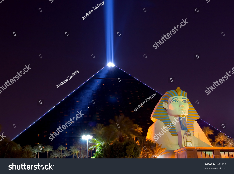 Pyramid Sphinx Night Las Vegas Stock Photo Edit Now 4832776