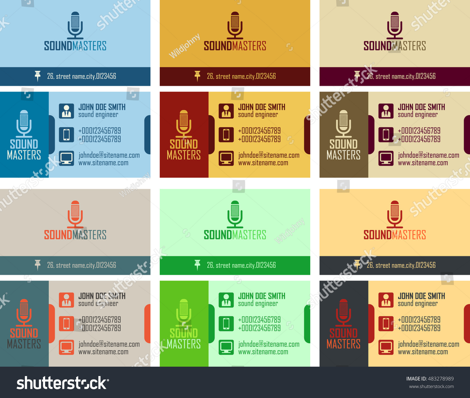 Business Card Vector Pack Choice Image Card Design And Card Template