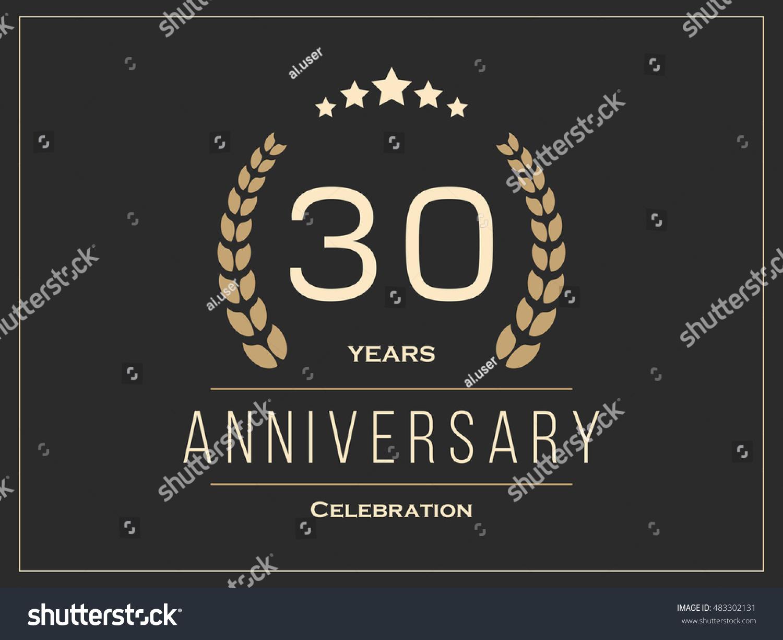 Thirty years anniversary celebration logotype th stock vector