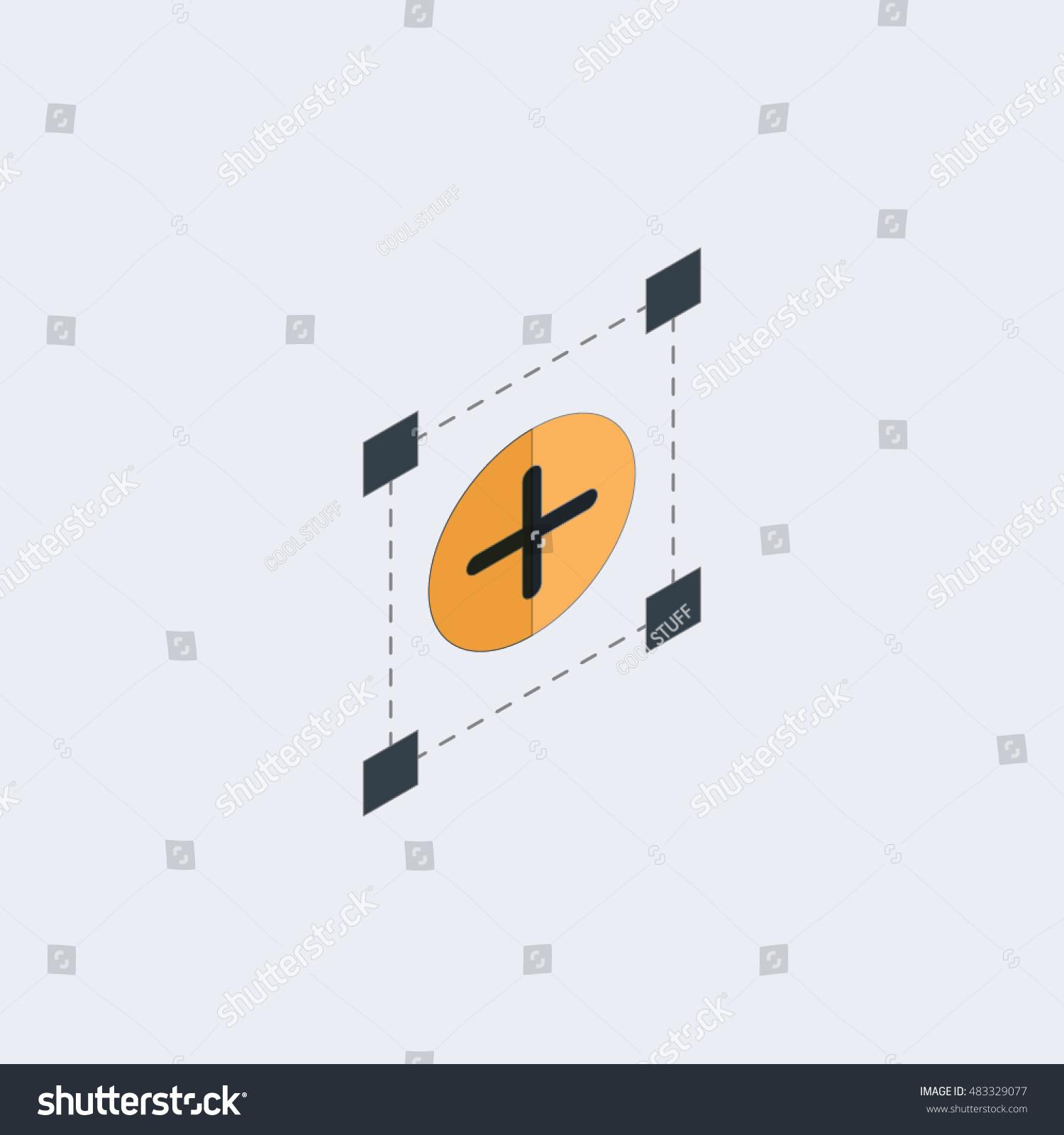 Sun Plus Sign Icon Heat Symbol Stock Vector (Royalty Free