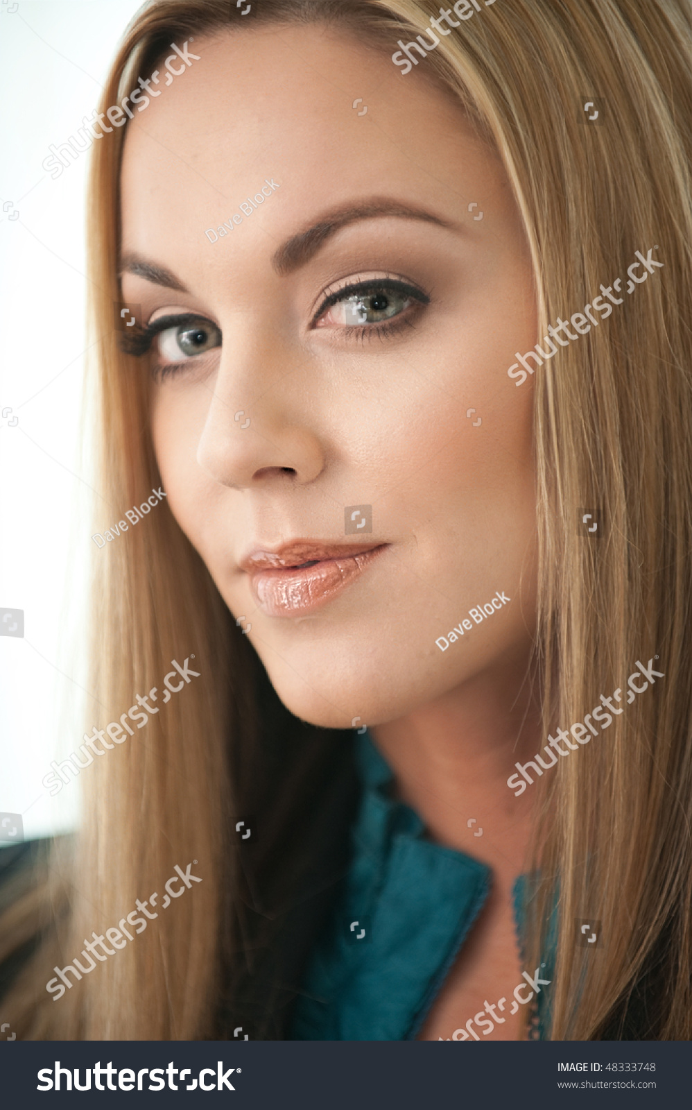 Blond Woman Arched Eyebrows Stock Photo Edit Now 48333748