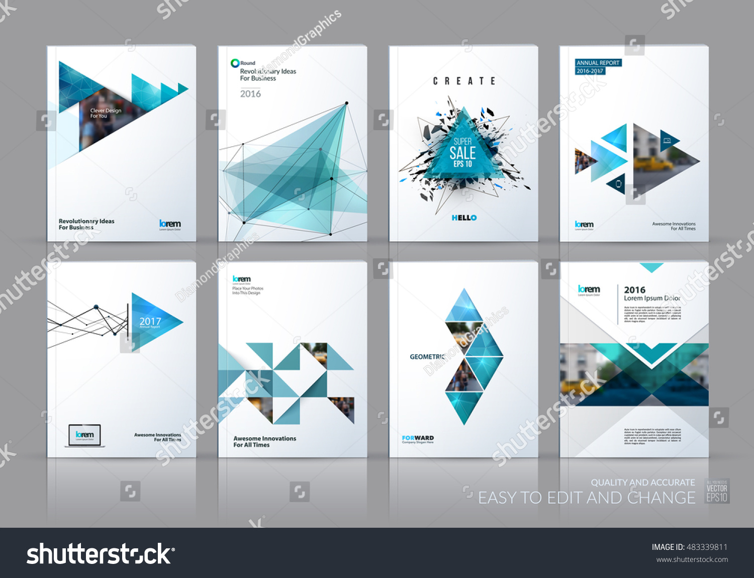 Brochure template layout cover design annual stock vector for 3d brochure design