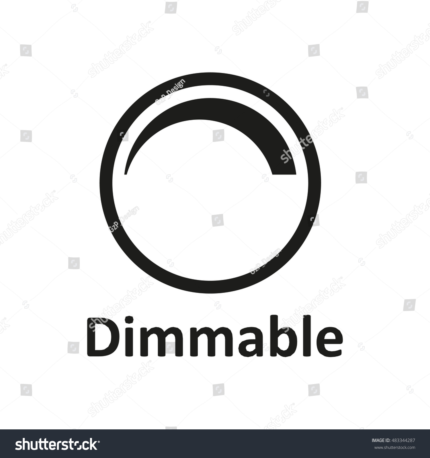 Dimmable Icon Icon LED Light Vector Stock Vector 483344287 ...