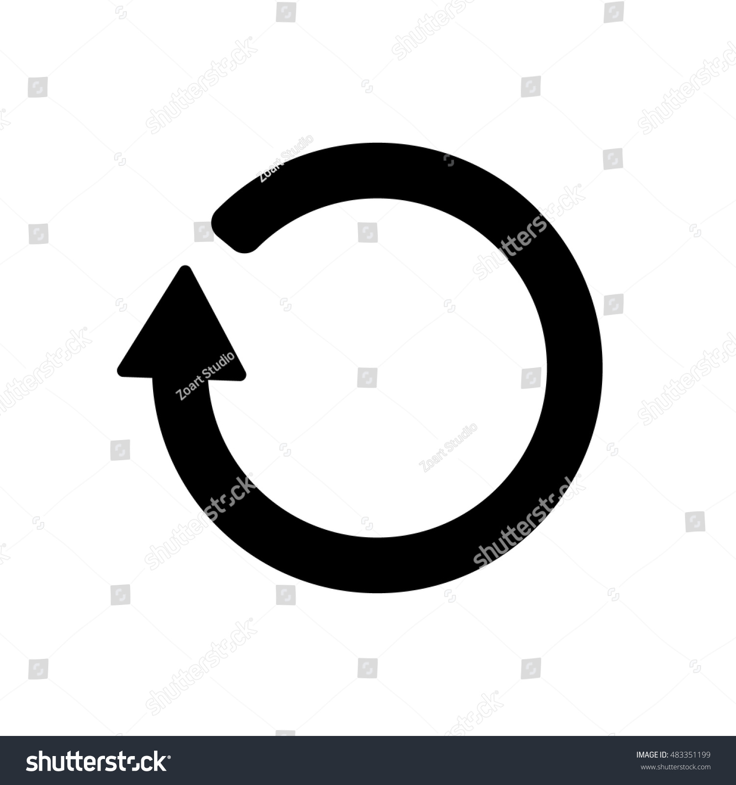 Refresh icon loading symbol stock vector 483351199 shutterstock loading symbol biocorpaavc Image collections