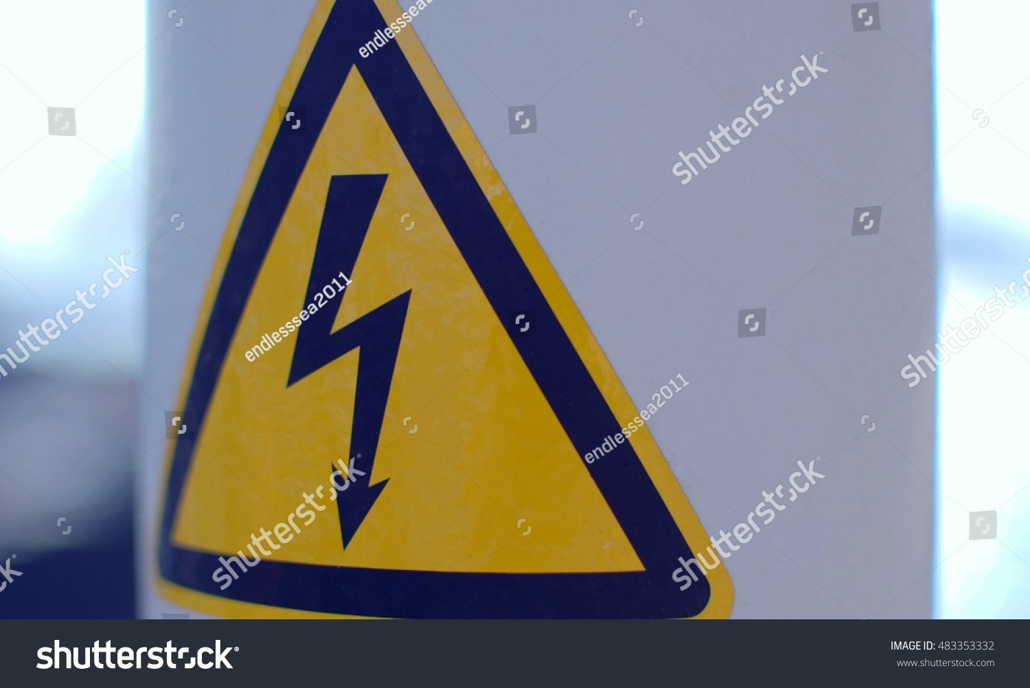 Royalty Free Danger Electricity Voltage High Sign 483353332