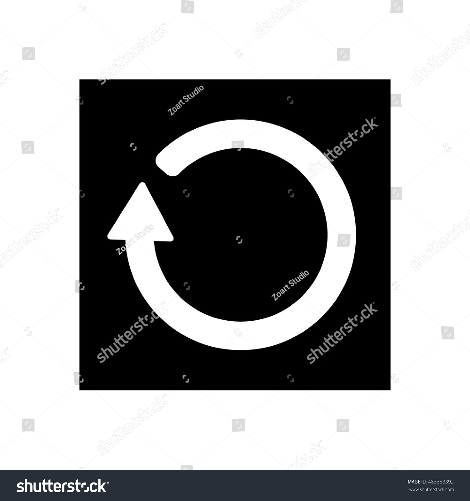 Refresh icon loading symbol stock vector 483353392 shutterstock loading symbol biocorpaavc Image collections