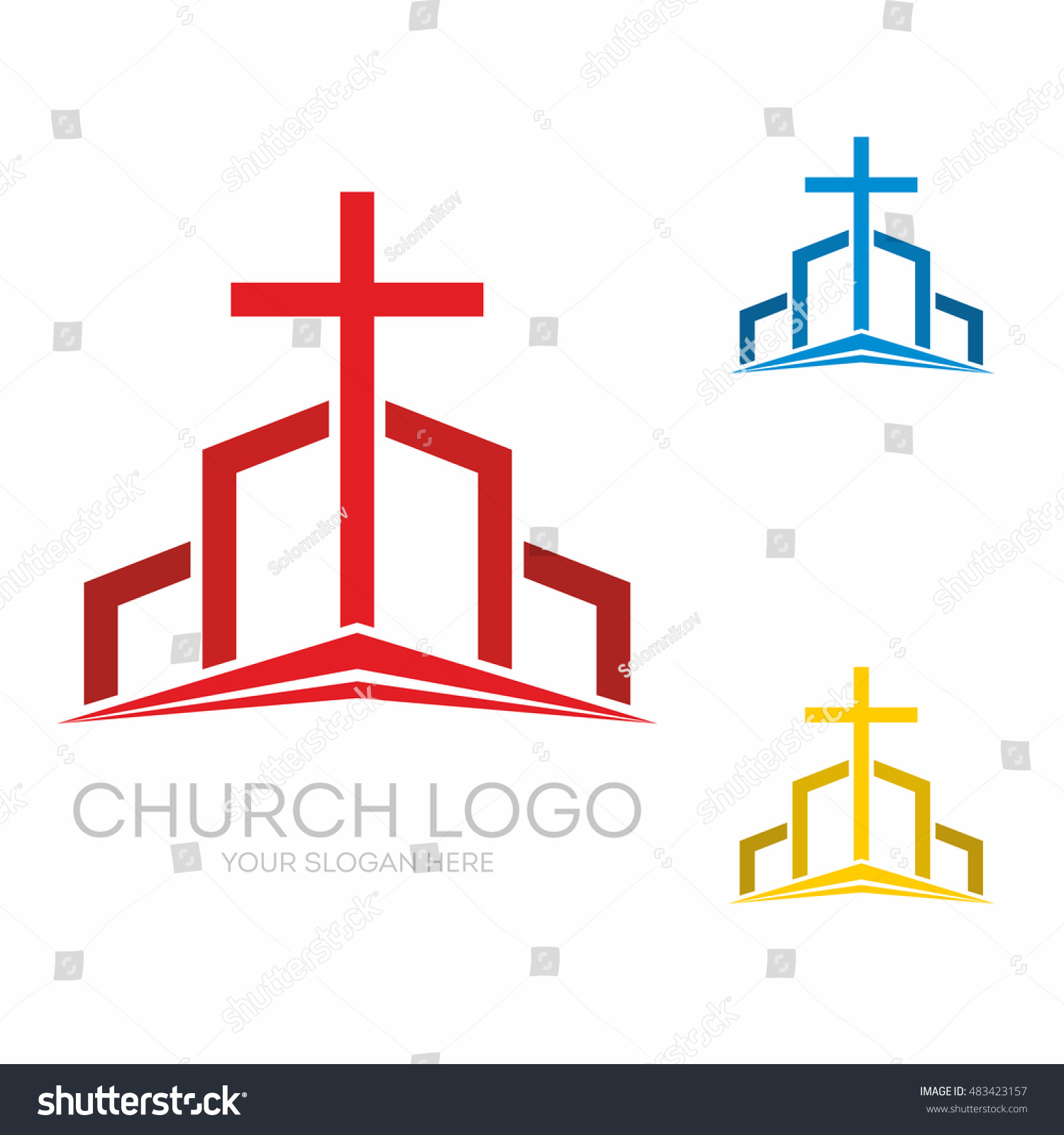 Church logo christian symbols altar cross stock vector 483423157 church logo christian symbols the altar and the cross of christ buycottarizona Image collections