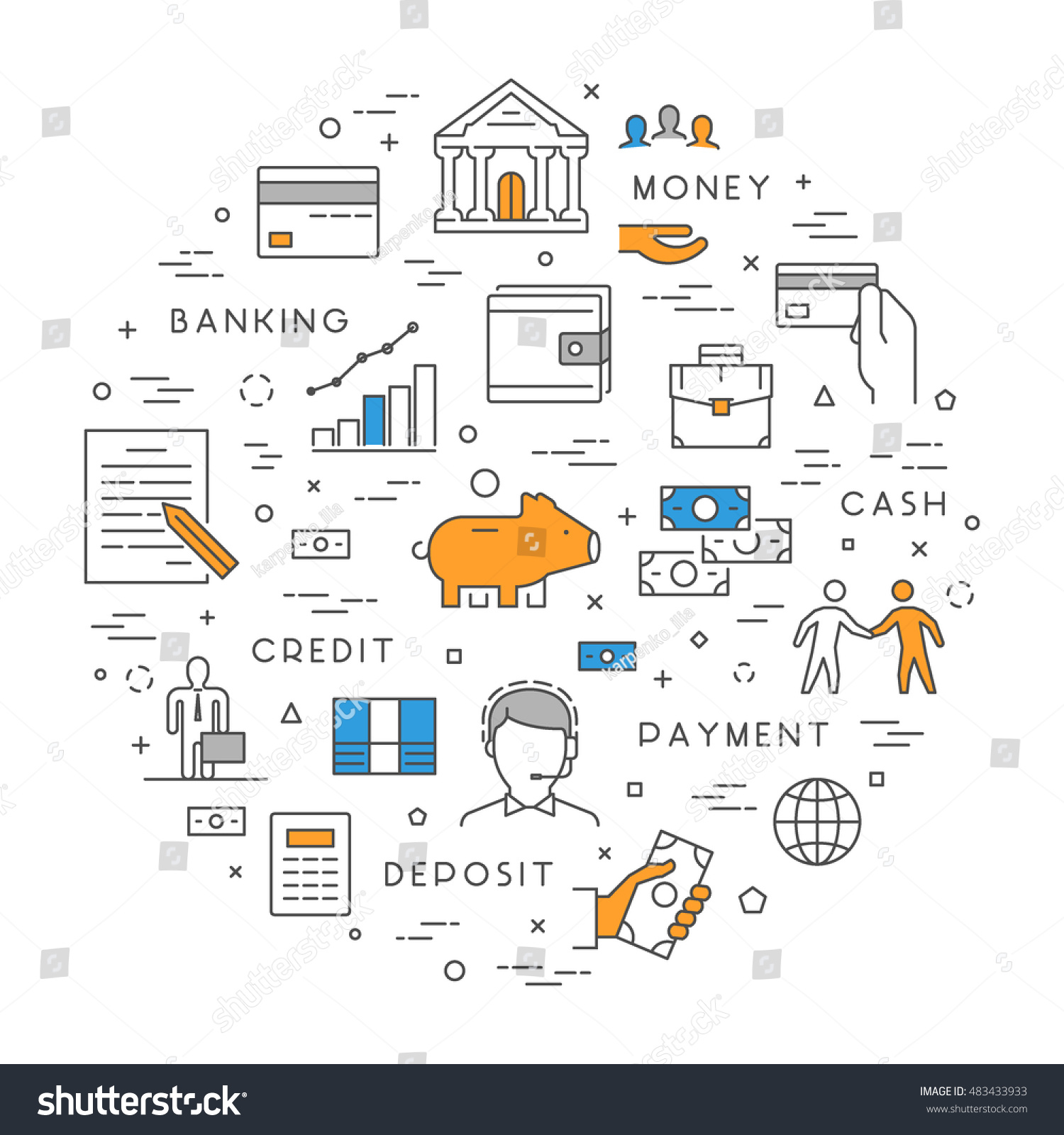 Vector line concept banking modern linear stock vector 483433933 vector line concept for banking modern linear symbol for investment open path biocorpaavc Gallery