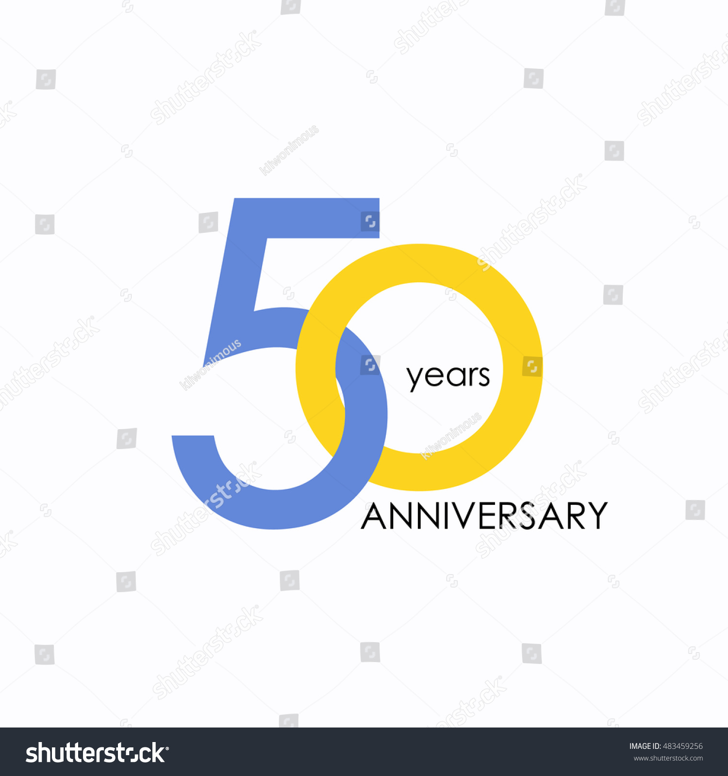 50 years anniversary signs symbols which stock vector 483459256 50 years anniversary signs symbols which is yellow and blue with flat design buycottarizona Choice Image