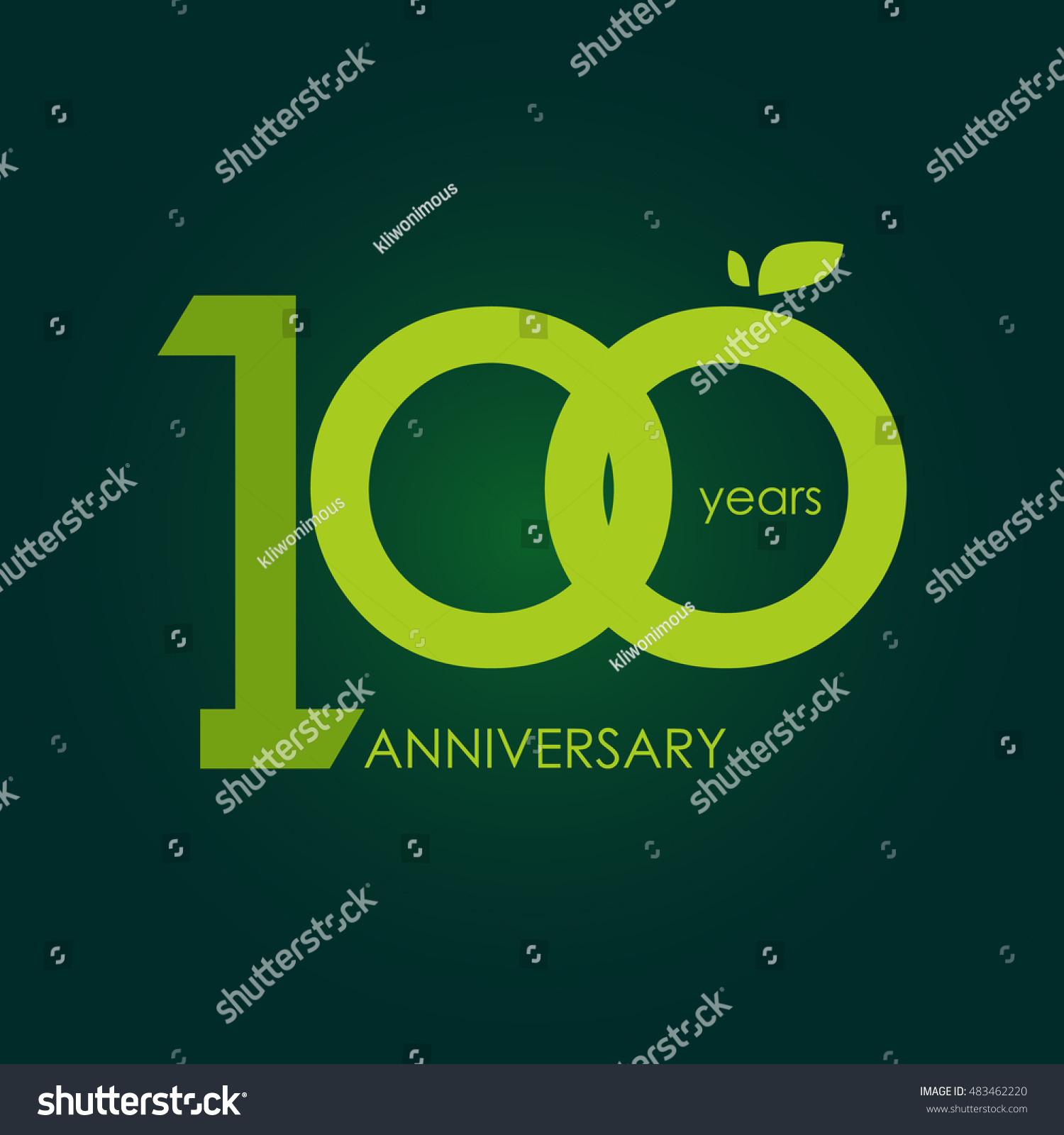100 years anniversary signs symbols which stock vector 483462220 100 years anniversary signs symbols which is green with flat design style buycottarizona Image collections