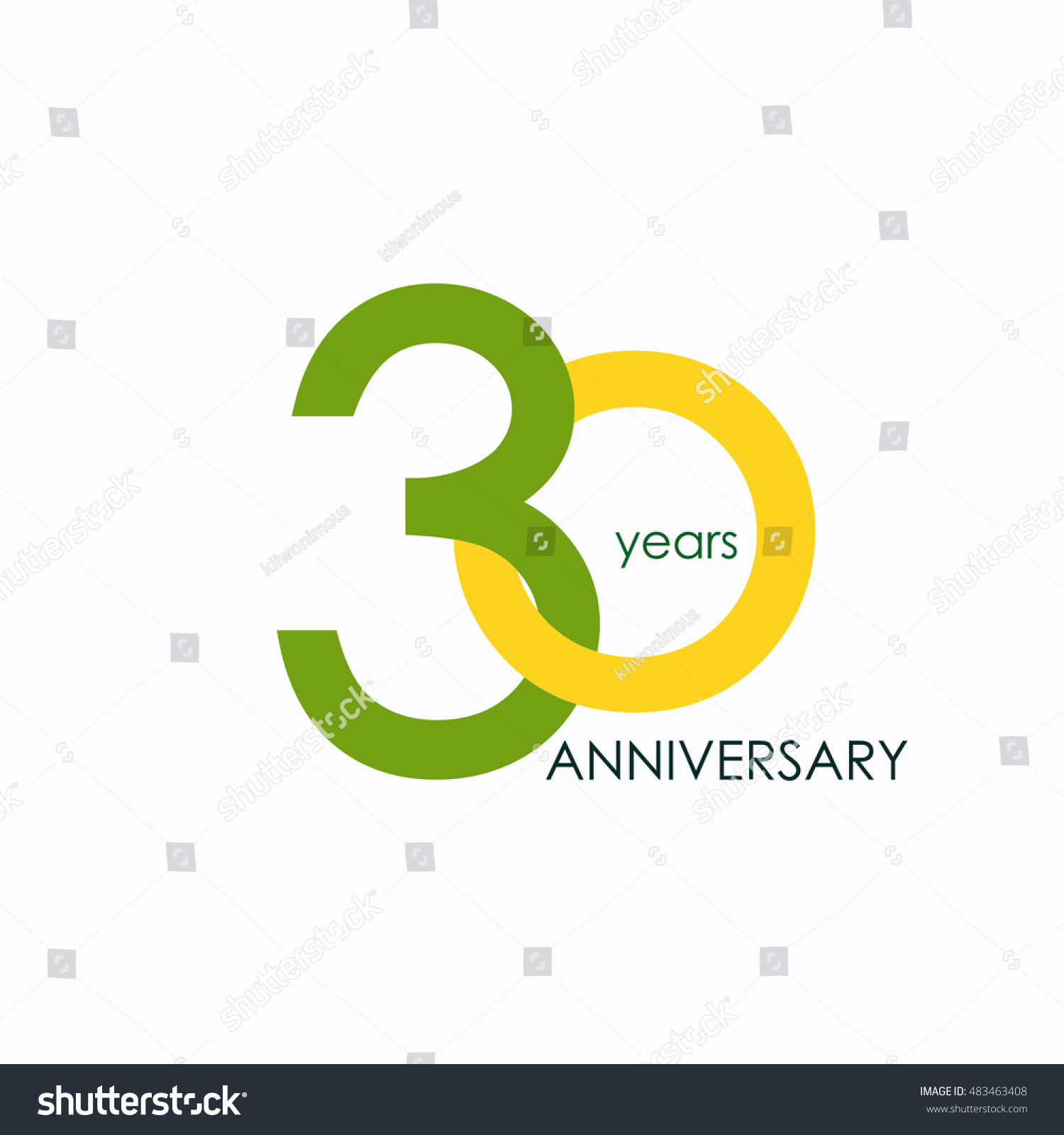 30 Years Anniversary Signs Symbols Which Stock Vector Royalty Free