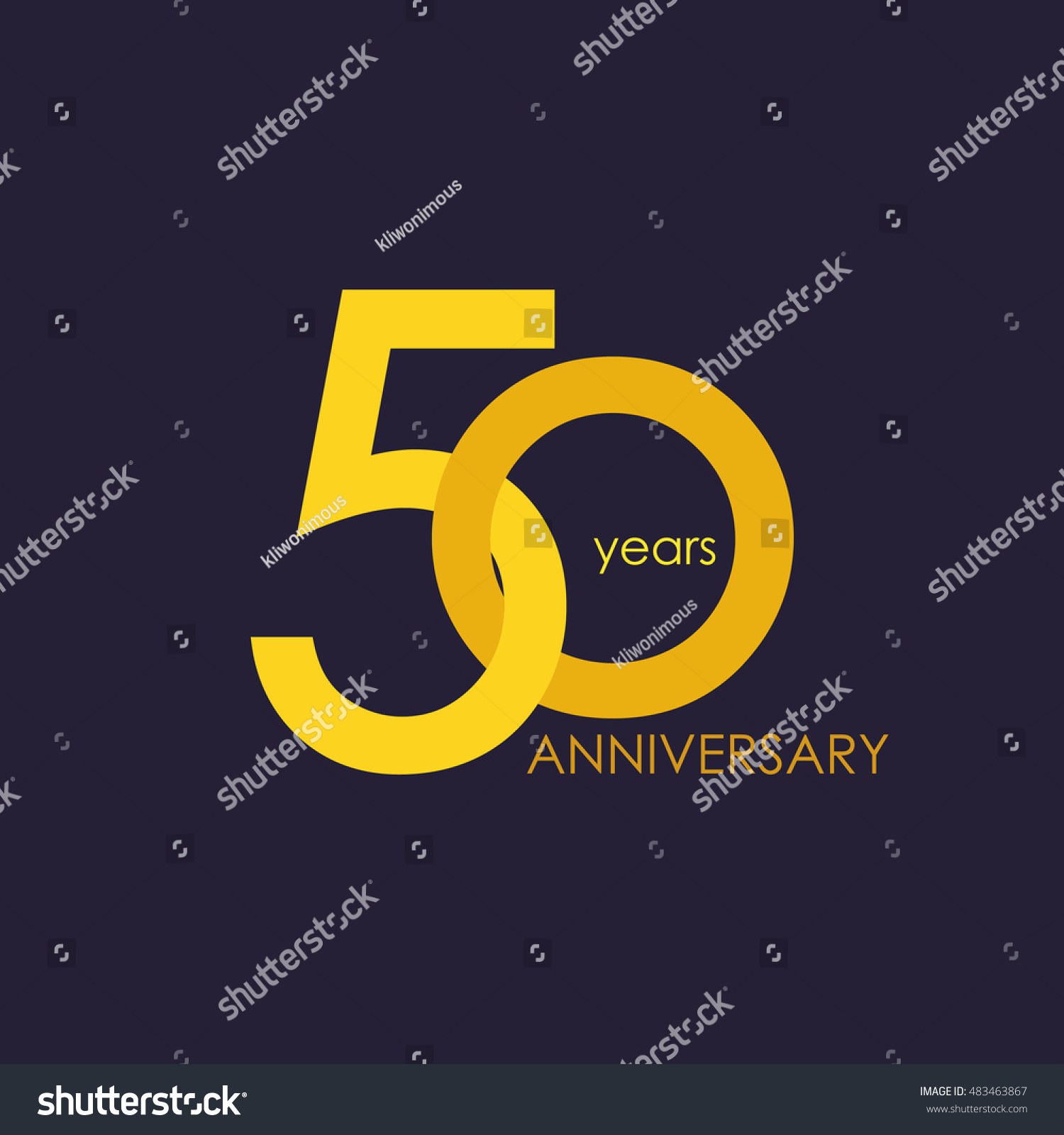 50 years anniversary signs symbols which stock vector 483463867 50 years anniversary signs symbols which is yellow with flat design style buycottarizona Choice Image
